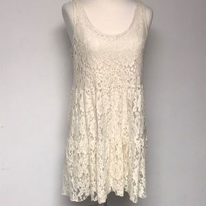 American Eagle Ivory Lace Dress